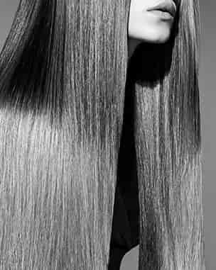 A woman with straightened  long hair
