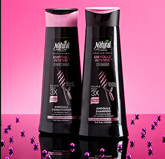 Two bottles of Ampoule Intense 3X shampoo and conditioner