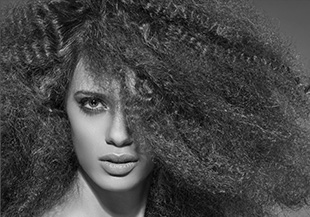 A woman with curly hair
