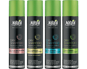 Four bottles of Dry Shampoo Series