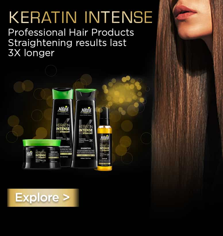 Keratin Intense series - shampoo, conditioner, hair mask and serum