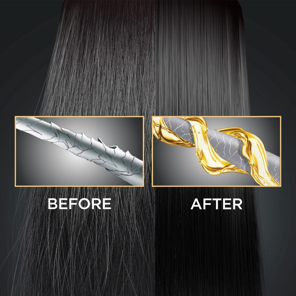 Effect on hair before and after using keratin intens