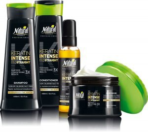 Four products of Keratin Intense